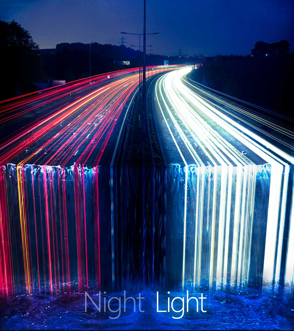 Night Light - creative project using light trails
